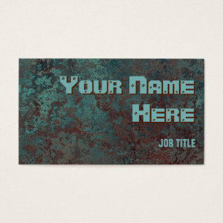 "Corrosion ""copper"" print business card side text"