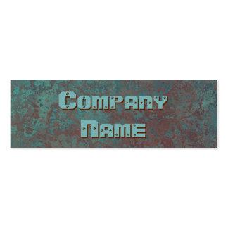 "Corrosion ""copper"" print business card skinny"