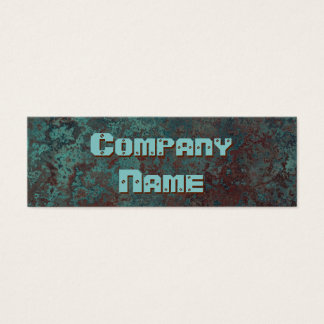 "Corrosion ""copper"" print business card skinny"