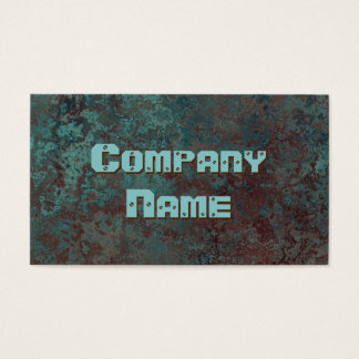 "Corrosion ""copper"" print business card template"