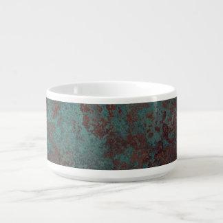 """Corrosion """"Copper"""" print chili bowl"""