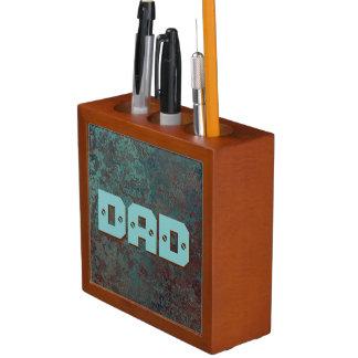 "Corrosion "" Copper"" print DAD desk organiser"