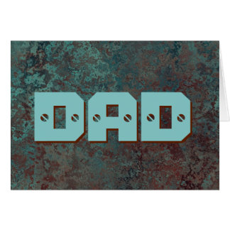 "Corrosion ""Copper"" print DAD greetings card"