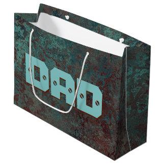 "Corrosion ""Copper"" print DAD large Large Gift Bag"