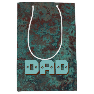 "Corrosion ""Copper"" print DAD medium Medium Gift Bag"