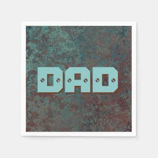 """Corrosion """"Copper"""" print DAD Paper Napkin"""
