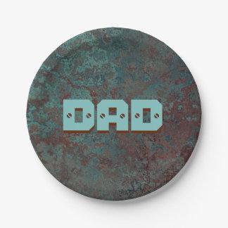 "Corrosion ""Copper"" print DAD paper plate 7 Inch Paper Plate"
