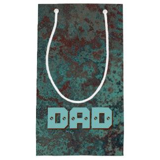 "Corrosion ""Copper"" print DAD small Small Gift Bag"