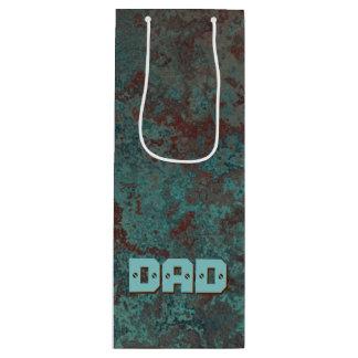 """Corrosion """"Copper"""" print DAD wine Wine Gift Bag"""