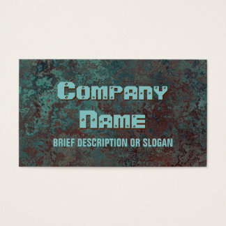 "Corrosion ""copper"" print 'description' business card"