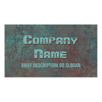 """Corrosion """"copper"""" print 'description' business card"""