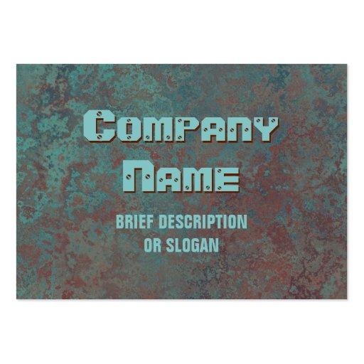"Corrosion ""copper"" print 'description' chubby business card template"