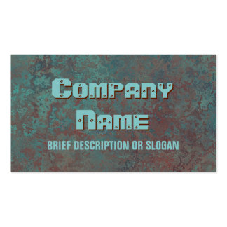 "Corrosion ""copper"" print 'description' pack of standard business cards"