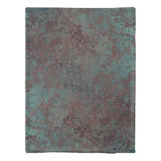 """Corrosion """"Copper"""" print duvet cover twin"""