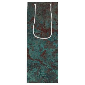 """Corrosion """"Copper"""" print gift bag wine"""