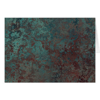 "Corrosion ""Copper"" print greetings card"