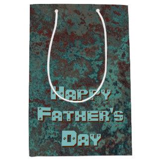 "Corrosion ""Copper"" print Happy Father's Day medium Medium Gift Bag"