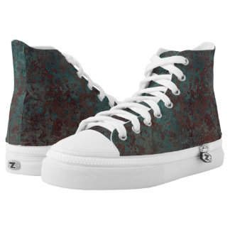 "Corrosion ""Copper"" print high top shoes"