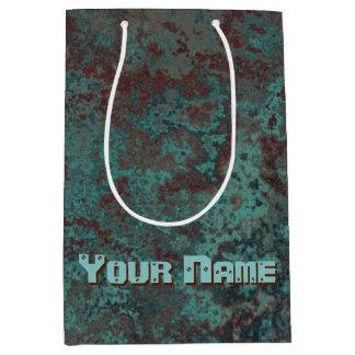 "Corrosion ""Copper"" print Name medium Medium Gift Bag"