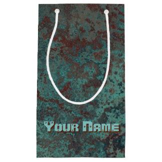 "Corrosion ""Copper"" print Name small Small Gift Bag"