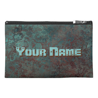 "Corrosion ""Copper"" print Name travel accessory bag"