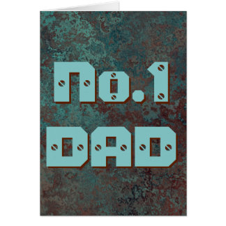"Corrosion ""Copper"" print No.1 DAD greetings card"