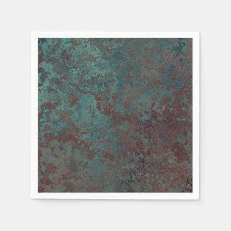 """Corrosion """"Copper"""" print paper napkins"""
