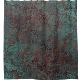 "Corrosion ""Copper"" print shower curtain"