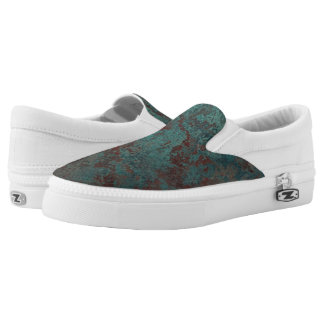 """Corrosion """"Copper"""" print slip on shoes"""