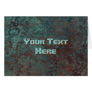 "Corrosion ""Copper"" print Text greetings card"
