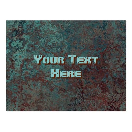 "Corrosion ""Copper"" print Text postcard"