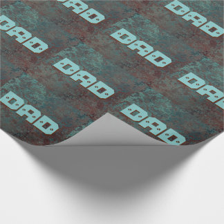 """Corrosion """" Copper"""" print tiled DAD wrapping paper"""