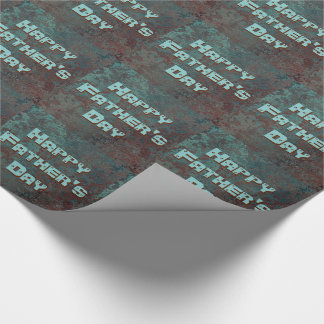 "Corrosion "" Copper"" print tiled Happy Father's Day Wrapping Paper"