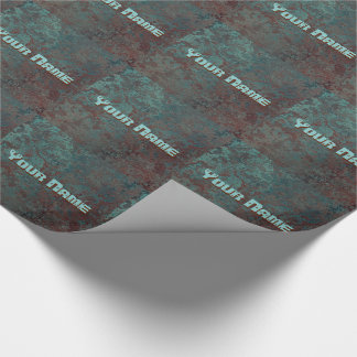 "Corrosion "" Copper"" print tiled Your Name Wrapping Paper"