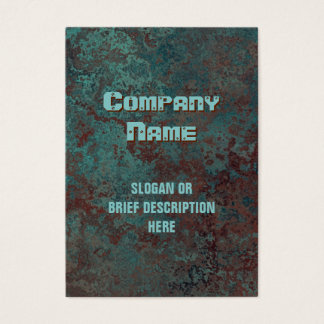 "Corrosion ""copper"" print vertical chubby business card"