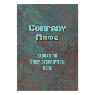 """Corrosion """"copper"""" print vertical chubby large business card"""
