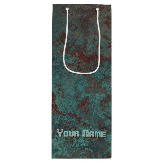 """Corrosion """"Copper"""" print Your Name wine Wine Gift Bag"""