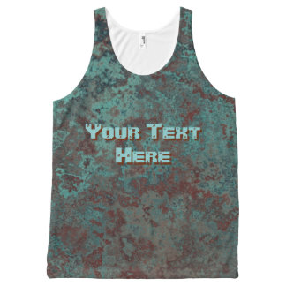 "Corrosion ""Copper"" Text print all-over tank top"