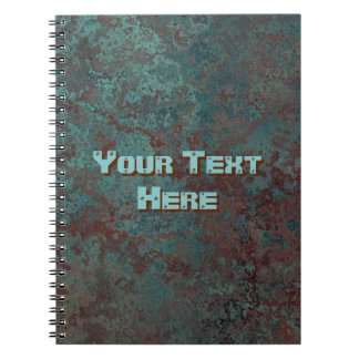 """Corrosion """"Copper"""" Text print notebook"""