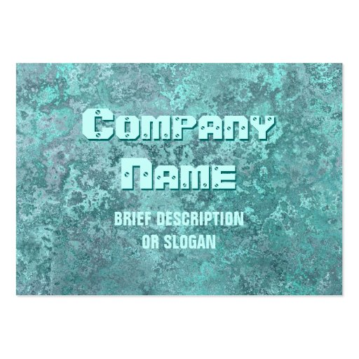 Corrosion green print 'description' chubby business cards