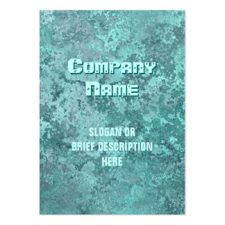 Corrosion green print vertical chubby large business card