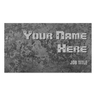 Corrosion grey print business card side text