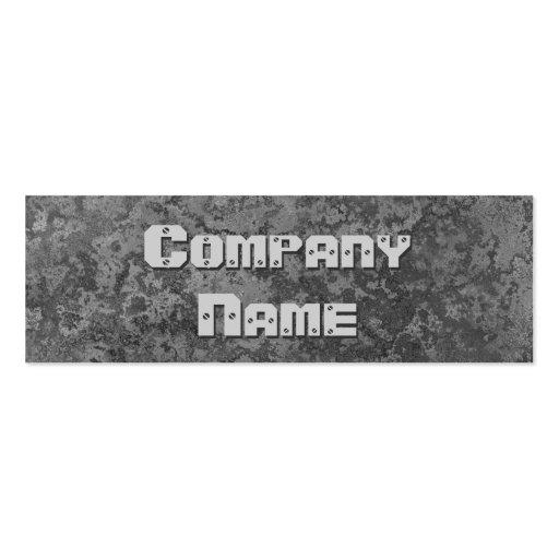 Corrosion grey print business card skinny