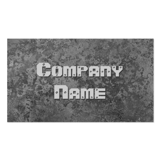 Corrosion grey print business card template
