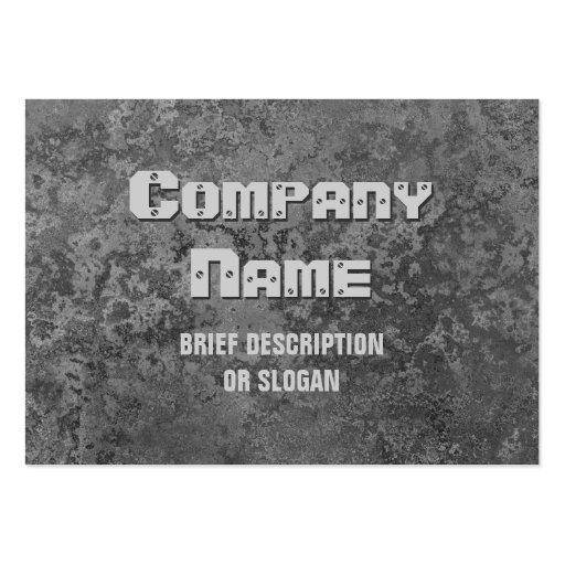Corrosion grey print 'description' chubby business cards