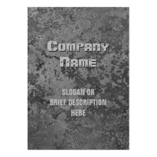 Corrosion grey print vertical chubby large business card