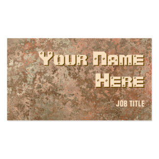Corrosion orange print business card side text