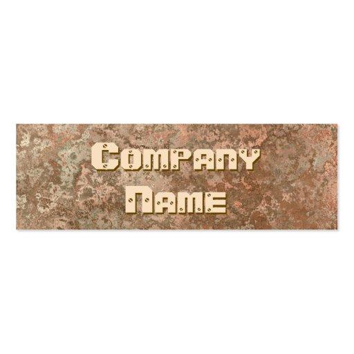 Corrosion orange print business card skinny