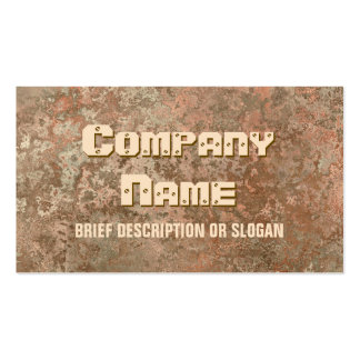 Corrosion orange print 'description' business card