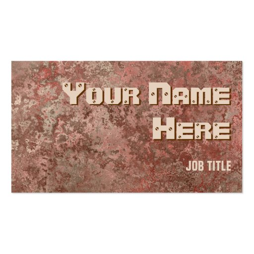 Corrosion red print business card side text